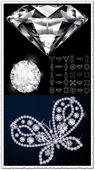 Diamond Geometric Shapes Vector
