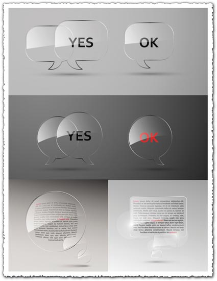 Glossy speech bubbles vector effect