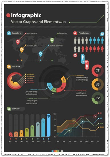 Infographics business charts vector