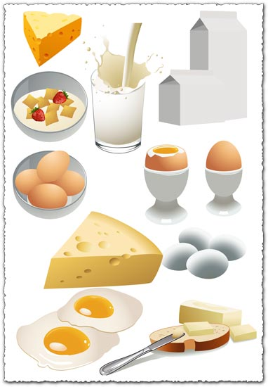 Nutritious breakfast food vector