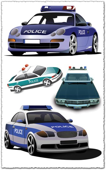 Police car vector templates