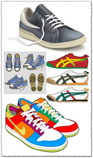 Shoes and snickers vectors