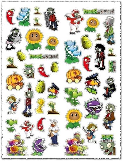 Zombi stickers vector templates