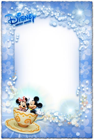 Border Design Disney Character : Mickey mouse and minnie photo frame for kids
