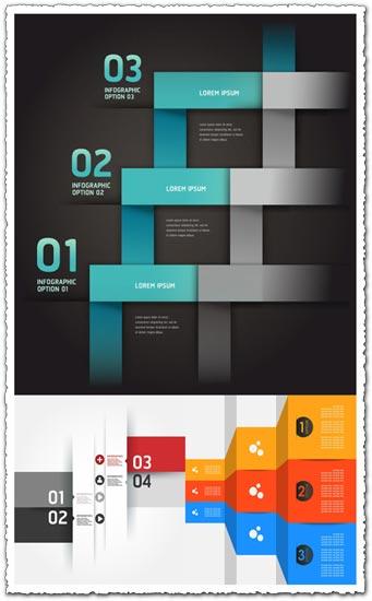 Modern option origami infographics banner