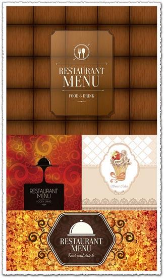 Restaurant menu cover as vintage design