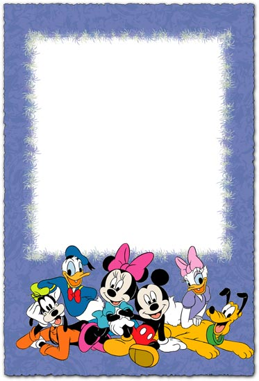 Walt Disney characters photo frame for children