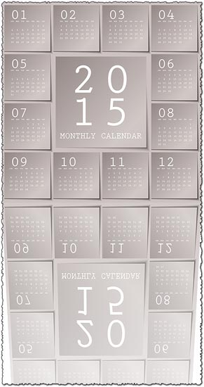 2015 vector calendar in metalic sticky notes