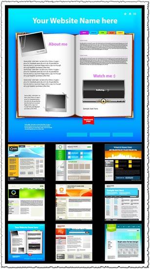 9 designs of minimalist website templates