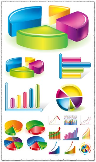 Charts and pies vectors