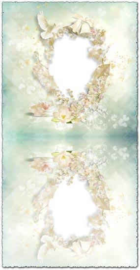 Cream transparent photo frame