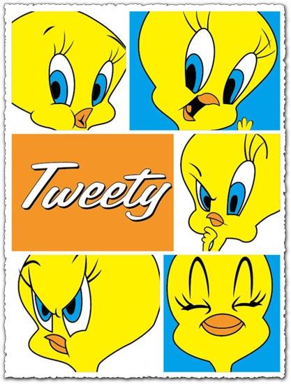 Tweety character vector cartoon
