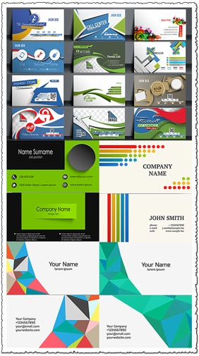 20 templates of business cards vectors
