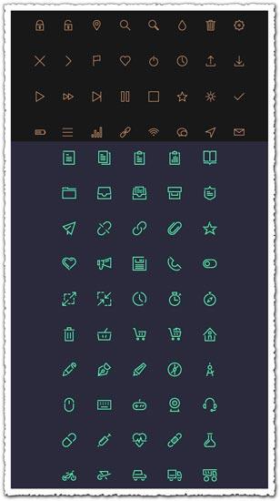 IOS flat UI icons