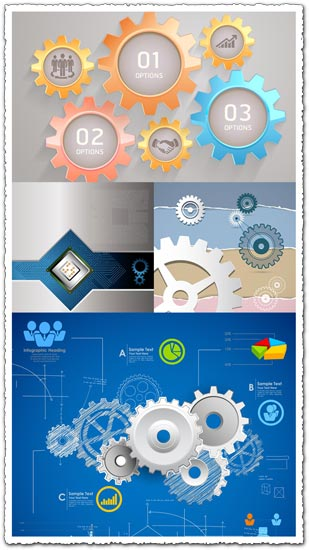 Infographics elements for business presentations