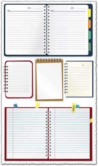 Paper notebooks vector design
