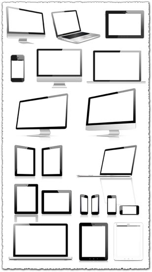 Blank screens of modern devices vector