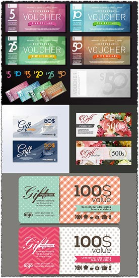 Voucher vector templates gift voucher vector templates yadclub Image collections
