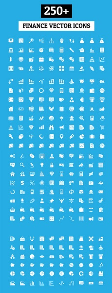 250 Finance vector icons