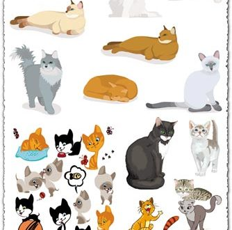 Baby cats vector cartoons