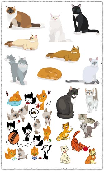 Cats vector cartoons