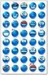 Blue emoticon models