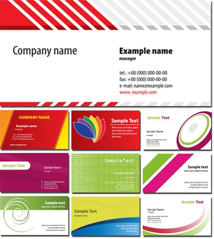 Business cards vector free download
