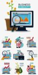 Business concept and strategy vector illustrations