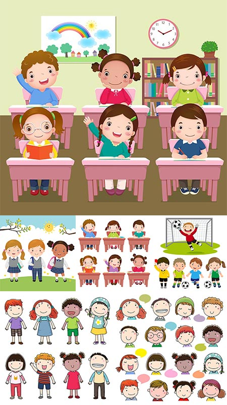 Children activities at school vectors