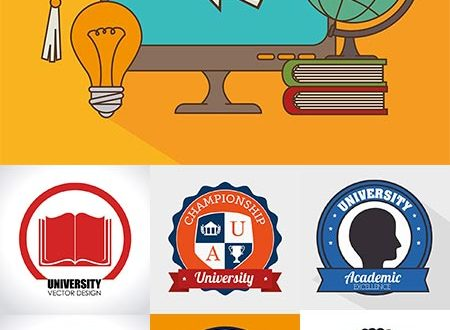 Education vector logo badges