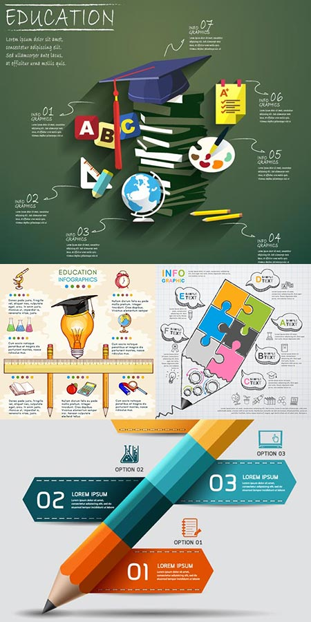 Education vector illustrations background