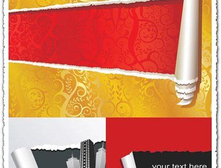 Torn paper vector textures