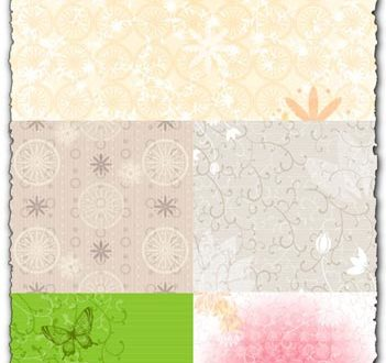 Floral backgrounds with curly shapes vectors