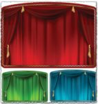 Theater curtain vectors
