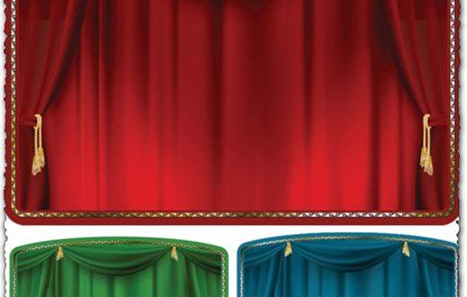 Theater curtain vectors