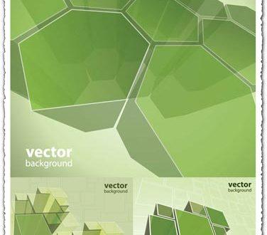 Green boxes vector design