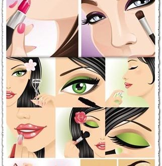 Make-up vectors design