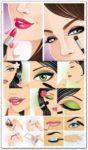 Make-up vectors design