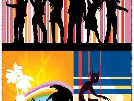 Party people vector shapes