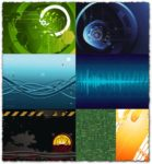 High-tech background vectors