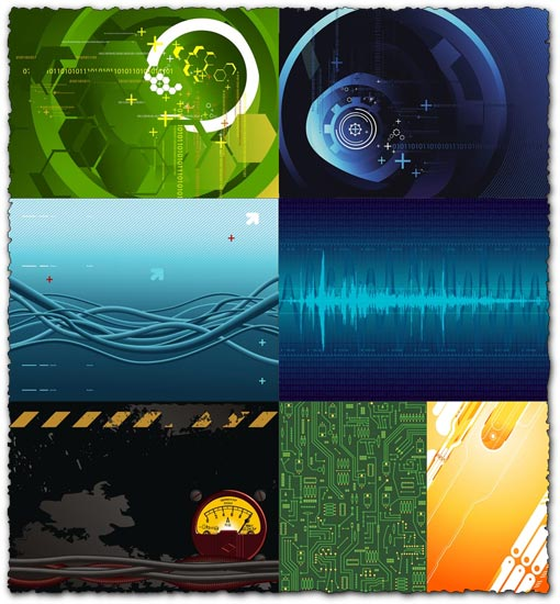 High-tech background vectors