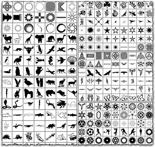 860 Shapes For Photoshop