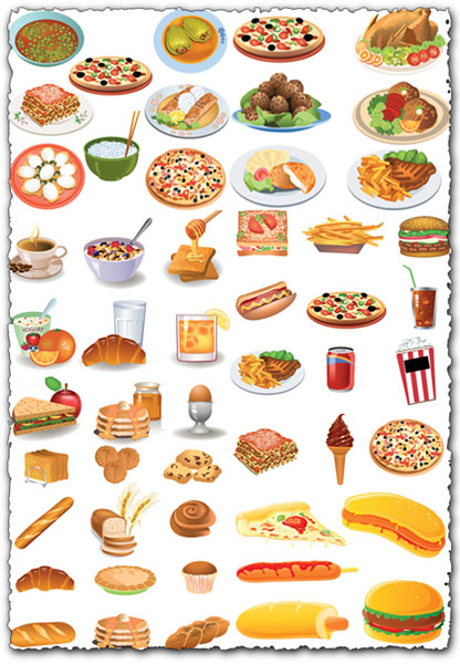 All kind of food vectors