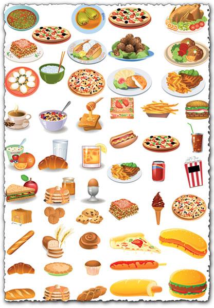 All kind of food vectors