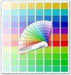 CMYK Pantone palette vector