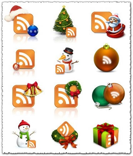Winter Christmas RSS icons