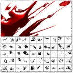 Photoshop glossy blood splatter brushes