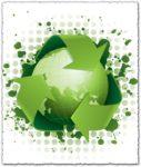 Green recycling concept vector