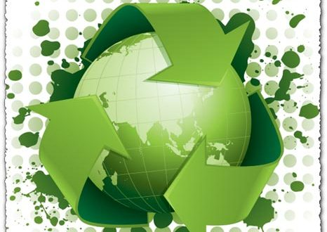 Green recycling concept vector