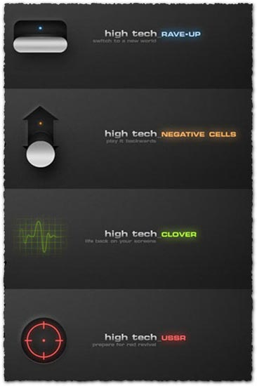 High tech icons